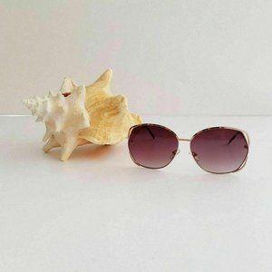 Foster Grant Sunglasses Rose Gold Oversized Impact